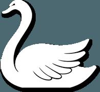 """Pannekoekenhuis """"de Witte Swaen"""" Sticky Logo"""
